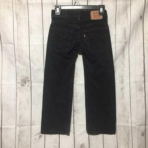 Levis 550 Black Jeans Boys 8 Reg Relaxed Fit Denim